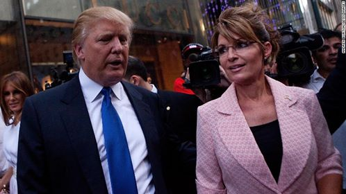 Donald J. Trump and former Governor of Alaska Sarah Palin